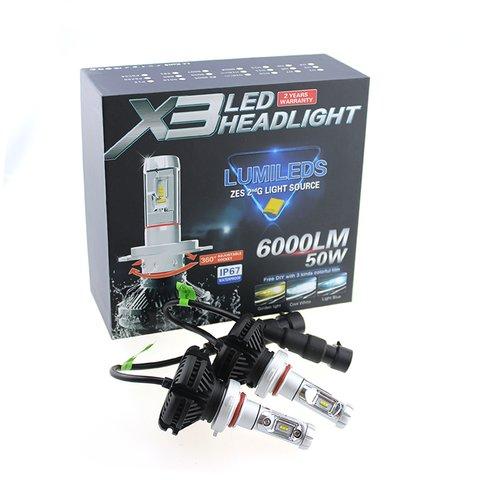 Набір світлодіодного головного світла UP-X3HL-H4W-6000LM (H4, 6000 лм, холодний білий) Прев'ю 2