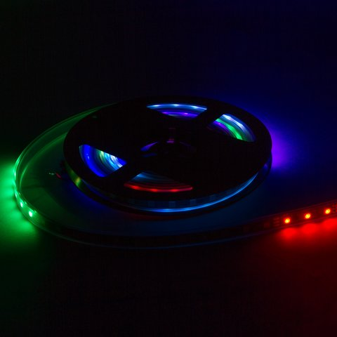 Світлодіодна стрічка RGB SMD5050, WS2812B (з управлінням, IP67, 5 В, 60 діодів/м, 5 м) - Перегляд 3