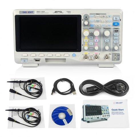 Фосфорний цифровий осцилограф SIGLENT SDS1102X-S Прев'ю 2